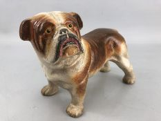 Cast iron figure of a bulldog, approx 22cm in length