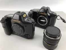 Two Canon T90 camera bodies and a canon zoom lens FD 35 - 70mm, 1: 3.5 - 4.5