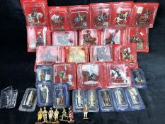 A collection of approx. 18 Del Prado metal cavalry figures, all boxed, along with approx. 17 Del