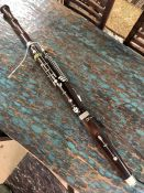 Vintage bassoon with crook and faintly stamped 'Excelsior Class' '8 Leicester Square, London'