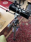 Helios floor standing telescope, D=114mm, F=1000mm with coated optics, on tripod stand