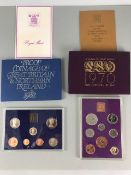 TWO COINAGE OF GREAT BRITAIN AND NORTHERN IRELAND PROOF SETS DATED 1970, 1982 IN ORIGINAL SLEEVES