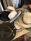 Collection of Gentleman's hats to include flat caps, boaters, trilbies etc, with makers to include