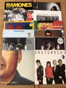"12 Punk & New Wave LPs/12"" by The Ramones, U2, Gun Club, Elvis Costello etc"