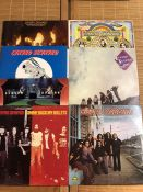 "7 Lynyrd Skynyrd LPs including ""Street Survivors"" with the withdrawn ""flames"" sleeve, ""Second"