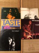 "5 Taste & Rory Gallagher LPs including ""Taste"", ""On The Boards"", ""Live At The Isle Of Wight"" and """