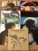 "11 Bob Dylan LPs including ""Blonde On Blonde"", ""The Basement Tapes"", ""At Budokan"", Times They Are"