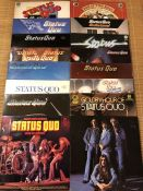 "16 Status Quo LPs including ""Piledriver"" (Vertigo swirl label), ""Dog Of Two Head"", ""On The Level"""