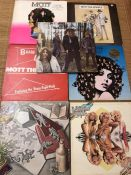 Vinyl: Seven Mott The Hoople LPs. All UK originals including pink island self-titled debut album,