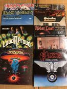 """12 Hard Rock & Heavy Metal LPs/12"""" including records by Iron Maiden (x3), Ozzy Osbourne, Nazareth,"""