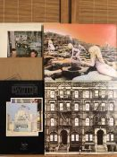 "5 Led Zeppelin LPs including ""Houses Of The Holy"", ""In Through The Out Door"" with outer brown bag"