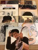 "11 Bob Dylan LPs including ""Blood On The Tracks"", ""Bringing It All Back Home"", ""The Freewheelin"", """