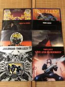 "8 Thin Lizzy LPs including ""Jailbreak"", ""Live & Dangerous"", ""Johnny The Fox"", ""Nightlife"" etc..."