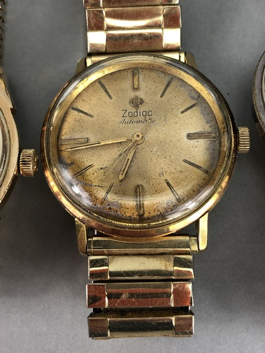 Collection of vintage watches to include: Zodiac, Mondia, Heno, Benrus & Longines - Image 3 of 6