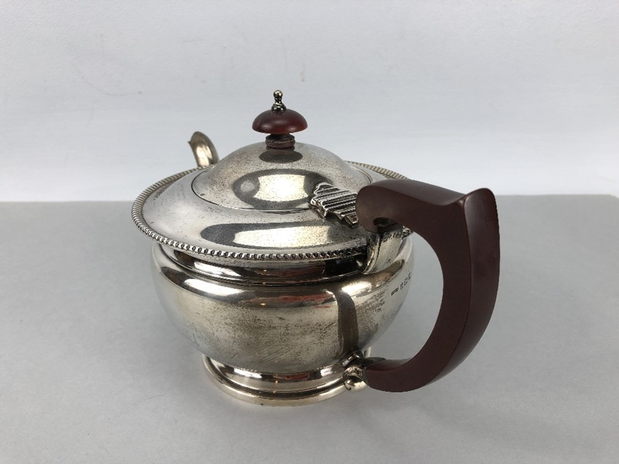 Hallmarked Silver teapot Birmingham by ASPREY of London (total weight approx 424g) - Image 2 of 7