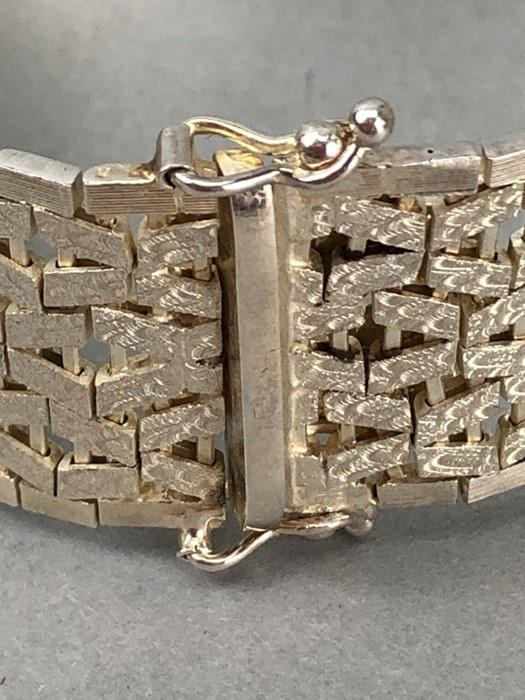 Silver hallmarked two tone Bracelet marked 925 and maker DJE - Image 6 of 7