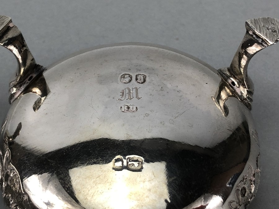Collection of Hallmarked Silver items to include some Georgian spoons, Sugar nips, salts etc - Image 14 of 14