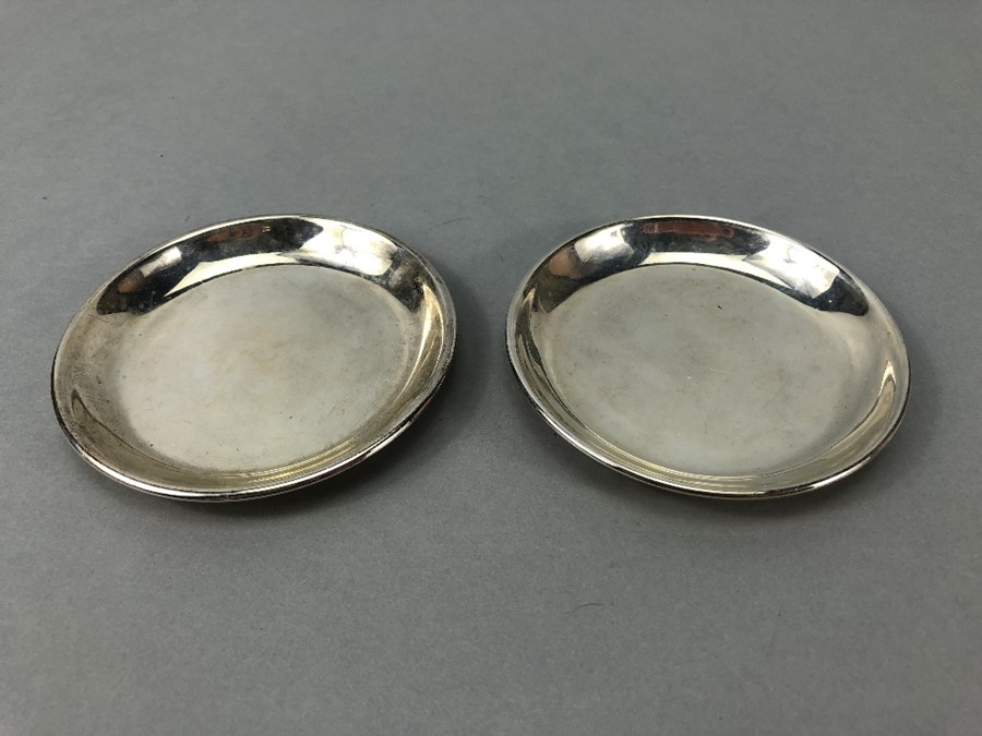 Pair of Silver 925 pin dishes approx. 132g & 9cm Diameter
