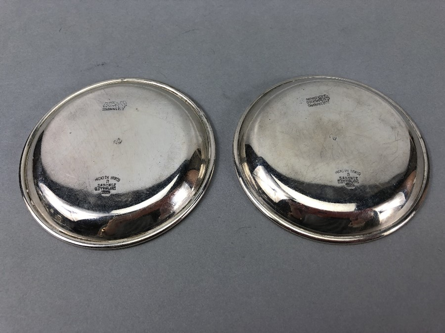 Pair of Silver 925 pin dishes approx. 132g & 9cm Diameter - Image 2 of 4