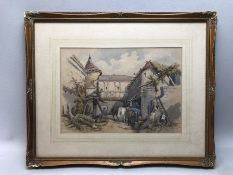 Frederick Stead (1863-1940) signed Watercolour (signed F. Stead 1889) of a village scene