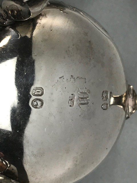 Collection of Hallmarked Silver items to include some Georgian spoons, Sugar nips, salts etc - Image 7 of 14