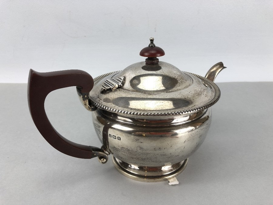 Hallmarked Silver teapot Birmingham by ASPREY of London (total weight approx 424g) - Image 3 of 7