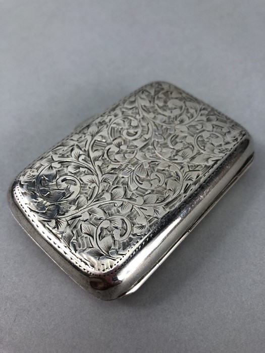 Silver hallmarked cigarette case with unengraved cartouche Chester 1900 by Charles Lyster & Son - Image 3 of 6