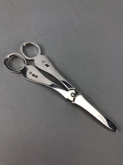 Pair of grape scissors hallmarked for London 1901 by Josiah Williams & Co (George Maudsley Jackson & - Image 4 of 5