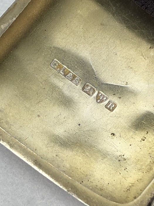 Silver hallmarked cigarette case with unengraved cartouche Chester 1900 by Charles Lyster & Son - Image 5 of 6