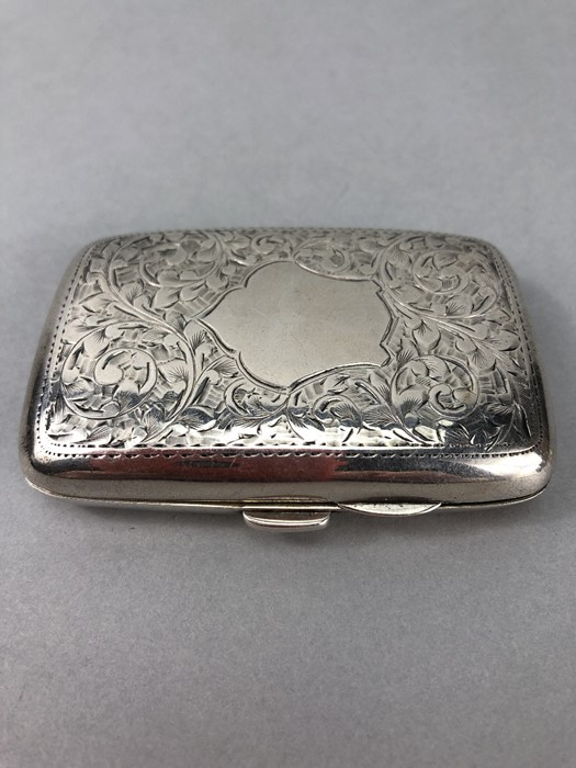 Silver hallmarked cigarette case with unengraved cartouche Chester 1900 by Charles Lyster & Son - Image 2 of 6