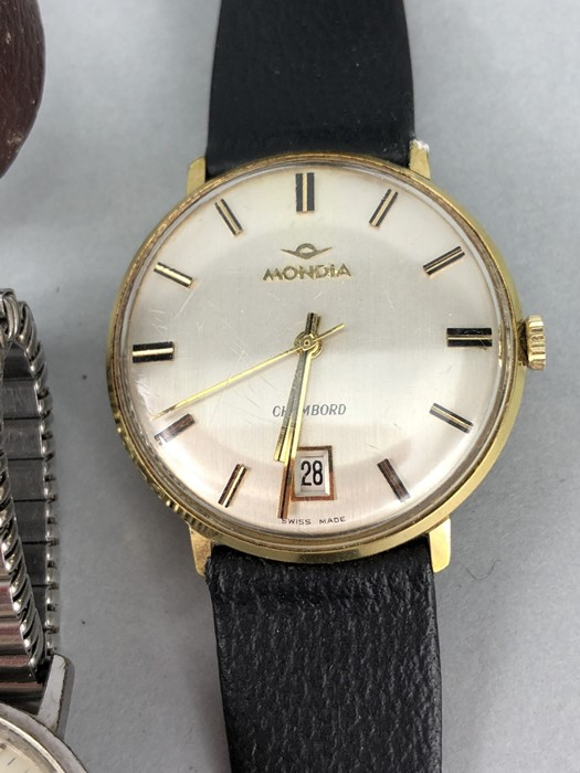 Collection of vintage watches to include: Zodiac, Mondia, Heno, Benrus & Longines - Image 5 of 6