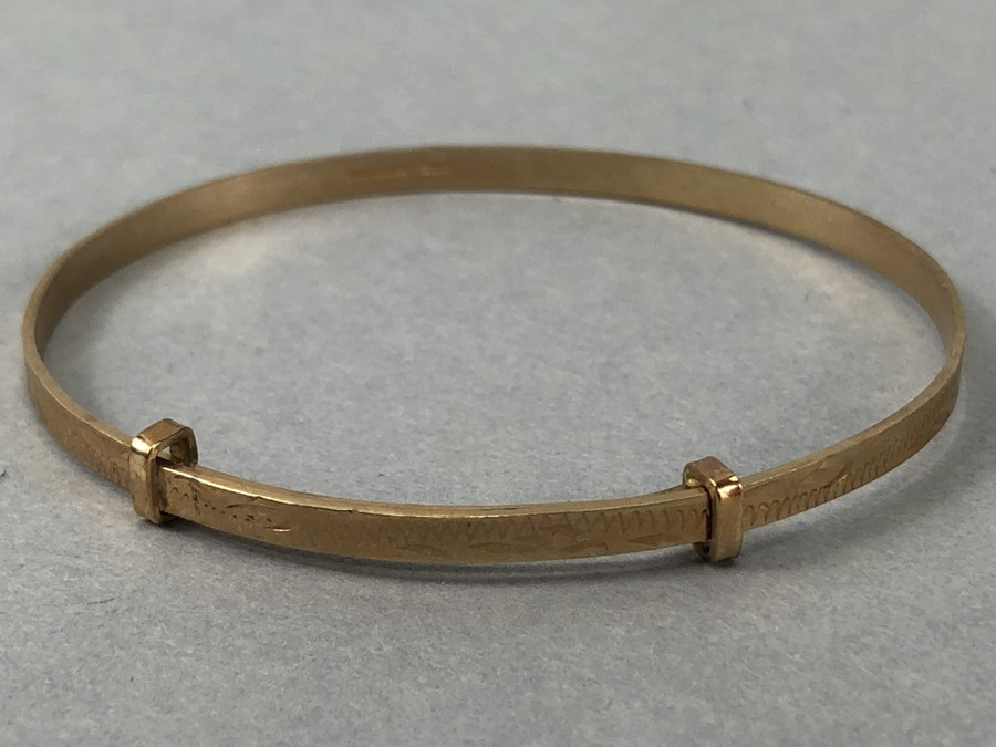 9ct Gold 375 hallmarked Childs Christening bracelet (total weight approx 3g) - Image 3 of 5