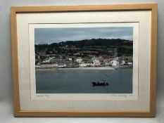 CHRIS WICKING, framed print of Lyme Bay, signed in pencil lower right