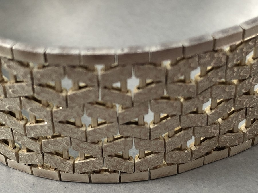 Silver hallmarked two tone Bracelet marked 925 and maker DJE - Image 2 of 7
