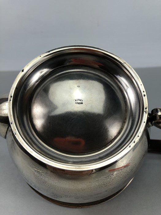Hallmarked Silver teapot Birmingham by ASPREY of London (total weight approx 424g) - Image 7 of 7