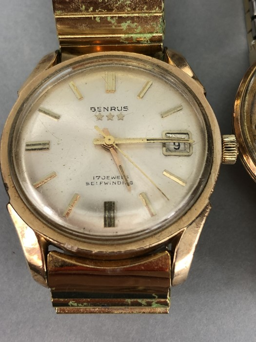 Collection of vintage watches to include: Zodiac, Mondia, Heno, Benrus & Longines - Image 2 of 6