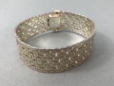 Silver hallmarked two tone Bracelet marked 925 and maker DJE