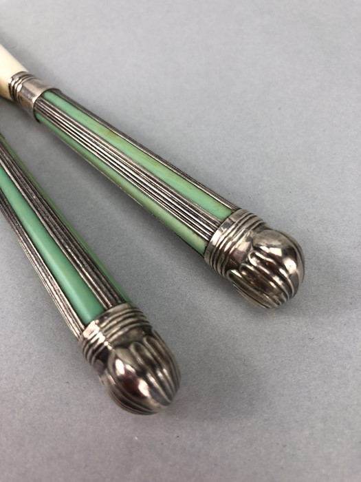 Pair of Glove Stretchers Edwardian Silver and Ivory Sheffield 1902, maker GH Harrison Brothers & - Image 2 of 6