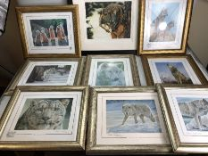 STEPHEN GAYFORD - eight limited edition artist signed framed prints, along with a framed limited