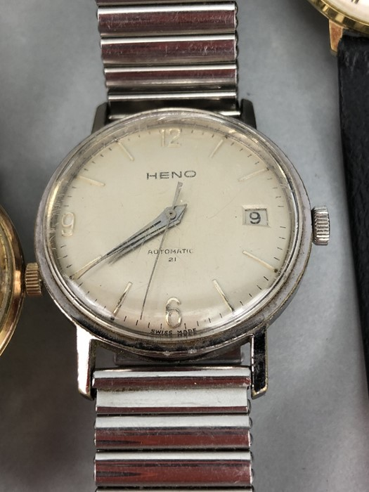 Collection of vintage watches to include: Zodiac, Mondia, Heno, Benrus & Longines - Image 4 of 6