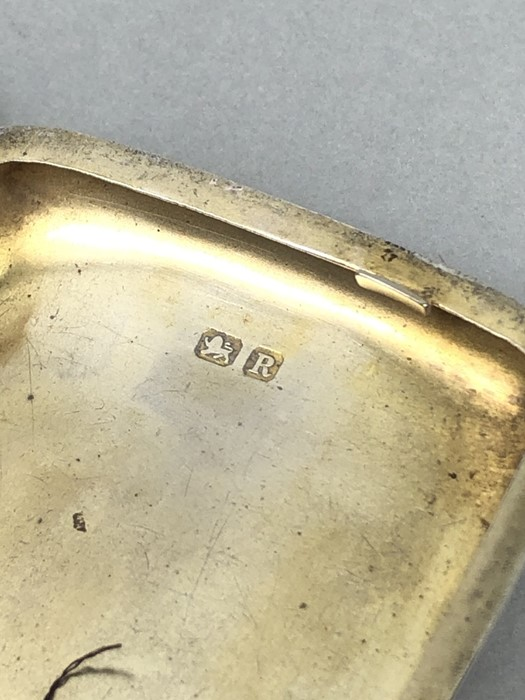 Silver hallmarked cigarette case with unengraved cartouche Chester 1900 by Charles Lyster & Son - Image 6 of 6