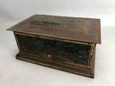 Colman's Fine Mustard gilt and iridescent enamelled chinoiserie decorated tin (A/F)
