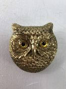 Brass owl vesta
