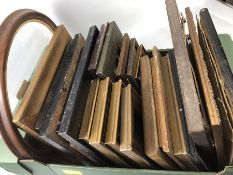 Collection of vintage frames, with and without glass, in varying shapes, sizes and finishes