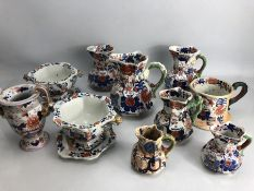 China: Collection of Mason's Ironstone mostly Mandalay pattern, varioius jugs, urn, Tureen with