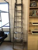 Extending vintage ladder with metal fixings