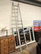Vintage white-painted library ladder