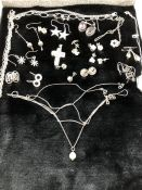 Collection of Silver Jewellery to include chains, bracelets and earrings