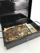 Large collection of UK coins and ten one pound notes
