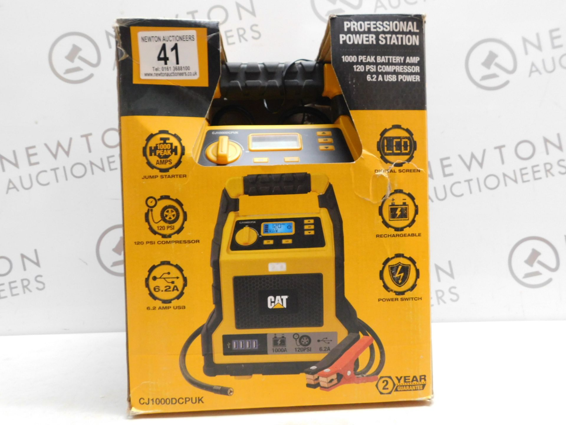 Lot 41 - 1 BOXED CAT 3-IN-1 PROFESSIONAL POWERSTATION WITH JUMP STARTER, USB & COMPRESSOR RRP £129.99
